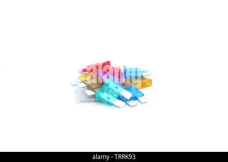 fuse on isolated white background - Stock Image