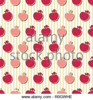 Apples Seamless Pattern - Stock Image
