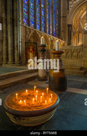 Cuthbert pots, Lincoln Cathedral. - Stock Image