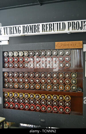 The Turing Bombe Rebuild Project at Bletchley Park, Milton Keynes, Buckinghamshire, UK - Stock Image