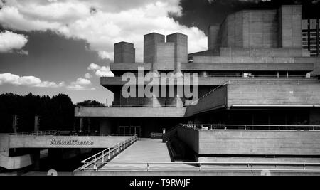 London South Bank Centre. May 2019 Brutalist architecture at the South Bank Arts Centre, home of the National Theatre and Hayward Gallery. Southbank C - Stock Image