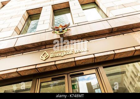 Bangkok Bank Public Co Ltd, Bangkok Bank Exchequer Court, 33 St. Mary Axe, London EC3A 8BY, Bangkok Bank London branch, Bangkok Bank London, Bangkok - Stock Image