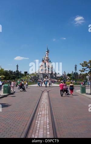 Castle at Disneyland Paris - Stock Image