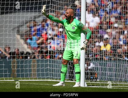 Claudio Bravo of Manchester City during the FA Community Shield match between Chelsea and Manchester City at Wembley Stadium in London. 05 Aug 2018 - Stock Image