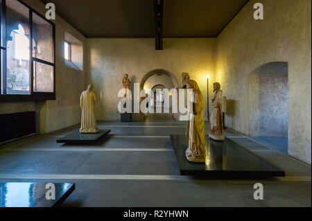 The Museo di Castelvecchio in Verona, a museum of art from the Middle Ages to the 18th century housed in Medieval fortress renovated by Carlo Scarpa - Stock Image
