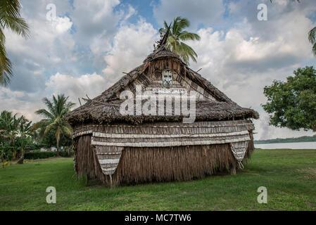 Haus Tambaran of Korogo Village, Middle Sepik, Papua New Guinea - Stock Image