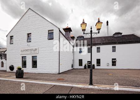 DALWHINNIE, SCOTLAND - July 14: Dalwhinnie distillery, highest distillery in Scotland on July 14, 2012 in Dalwhinnie, - Stock Image