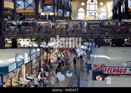The Great Market Hall Budapest Hungary - Stock Image