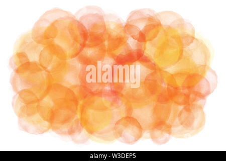 Autumn orange color abstract on natural watercolor paint background - Stock Image