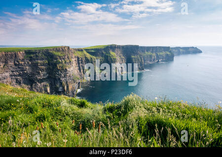 Cliffs of Moher in County Clare - Ireland - Stock Image