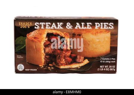 Trader Joe's Frozen Prepared Steak & Ale Pies - Stock Image