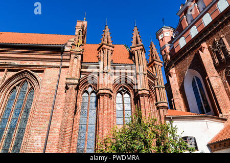 St. Francis of Assisi (Bernardine) Roman Catholic Church in Vilnius, Lithuania - Stock Image