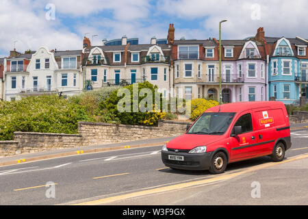 Royal Mail post van stopped at Boscombe, Bournemouth, Dorset UK in July - Stock Image