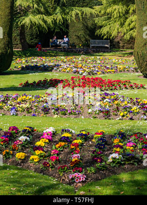 Dirleton Castle, East Lothian, Scotland, United Kingdom, 22nd April 20-19. UK Weather: a very warm sunny day in the castle gardens - Stock Image