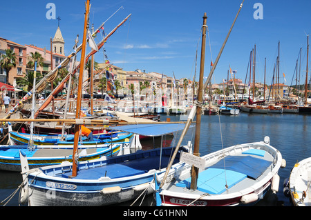 Harbour, Sanary sur Mer, near Toulon, France - Stock Image