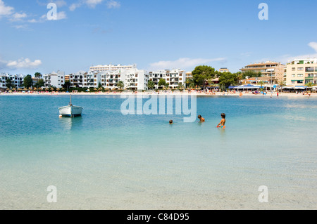 Mallorca, Port de Alcudia, beach - Stock Image