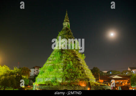 the Nam Phu or That Dam Stupa in the city of vientiane in Laos in the southeastasia. - Stock Image