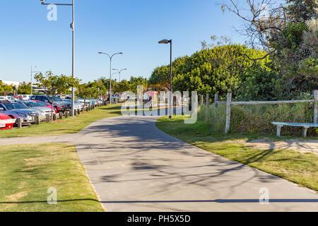 Concrete boardwalk at Mooloolaba, Sunshine Coast, Queensland, Australia - Stock Image