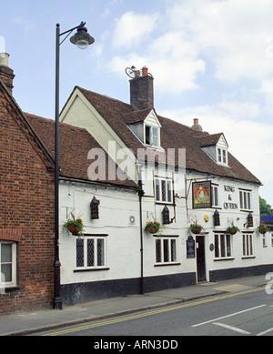 King and Queen Pub, Wendover, Buckinghamshire, UK - Stock Image