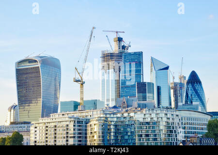 City of London Financial District The Square Mile, United Kingdom - Stock Image