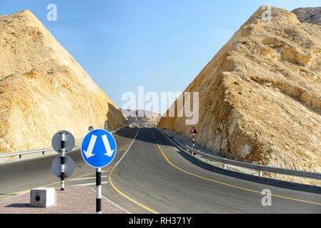 Road in rocky landscape - Stock Image