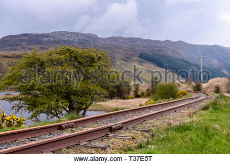 Donegal Railway Company narrow gauge railway , Donegal, Ireland - Stock Image