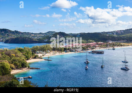 Sandals. Pigeon Island, Rodney Bay, Gros Islet, Saint Lucia, Caribbean. - Stock Image