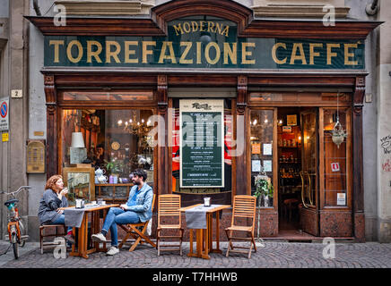 Italy Piedmont Turin Torrefazione caffè Moderna - Stock Image