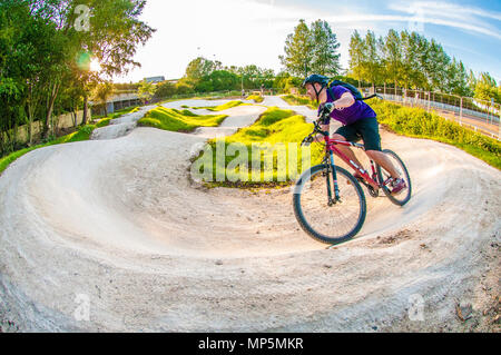 Mountain biking - Nottingham Pump Track - Stock Image