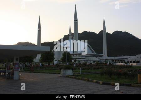 Faisal Mosque, Islamabad, Pakistan - Stock Image