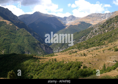 View from Monte Sibilla in the Sibillini National Park,Le Marche,Italy - Stock Image