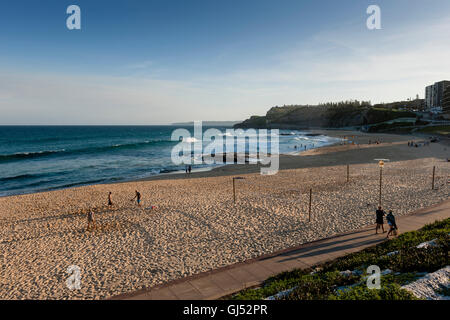 View of Newcastle Beach, New South Wales, Australia. - Stock Image