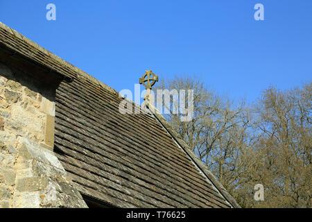 Roof of St Gregory's Minster, Kirbymoorside, Kirkdale, North Yorkshire, England, United Kingdom - Stock Image