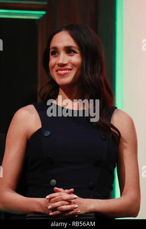Prince Harry The Duke of Sussex with Meghan Markle the Duchess of Sussex at a reception at the Auckland War Memorial Museum the couple where greeted by the Prime Minister of New Zealand Jacinda Ardern 30 October 2018 in Auckland, Zealand. - Stock Image