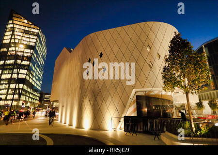 new modern building on A201, Southwark, London, England UK - Stock Image