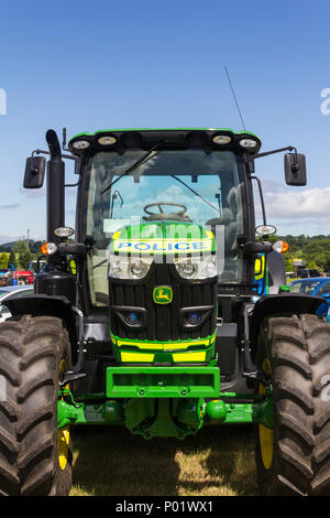 Police branded John Deere tractor on display at the Arthington show, West Yorkshire in 2017, - Stock Image