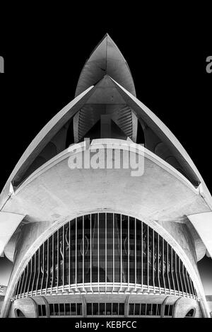 The Palau de les Arts opera house in Valencia - Stock Image