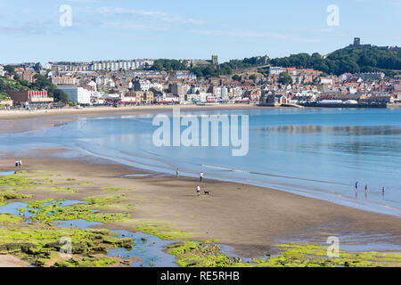 Town view from South Beach,  Scarborough, North Yorkshire, England, United Kingdom - Stock Image