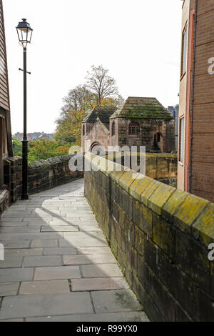 Newgate on the City walls at Chester, the County town of Cheshire, England, UK - Stock Image