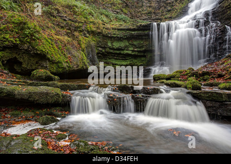Winter at Scaleber Force - Stock Image