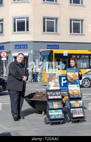 Jehovah's Witnesses at Noerreport, Copenhagen, Denmark - Stock Image