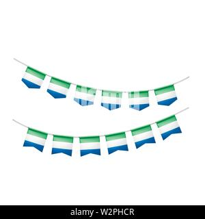Sierra Leone flag, vector illustration on a white background. - Stock Image