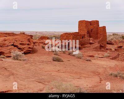 Wukoki Ruin. Wupatki National Monument, Arizona. - Stock Image