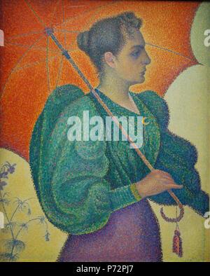 184 Paul Signac, Femme à l'ombrelle, 1893 - Stock Image