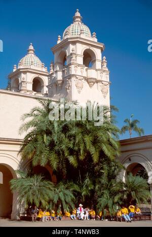 California San Diego Balboa Park built for Exposition Casa del Prado class trip - Stock Image