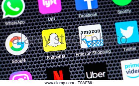 Snapchat app logo - Stock Image