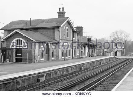 Robertsbridge railway station, East Sussex, UK – 1987 - Stock Image