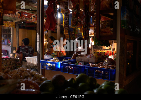 Food stall at the Ubud Markets Bali Indonesia - Stock Image