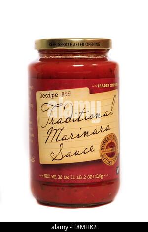 Trader Giotto's Traditional Marinara Sauce - Stock Image