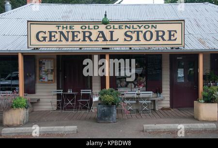 Old Glenlyon General Store in the Central Highlands of Victoria, Australia - Stock Image